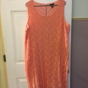 Sleeveless light coral dress